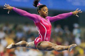 Simone Biles Leaping