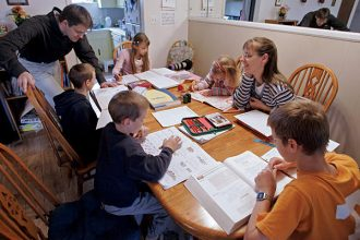 Homeschooling family
