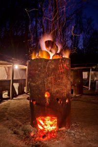 Fire box at Scott's Variety in South Carolina