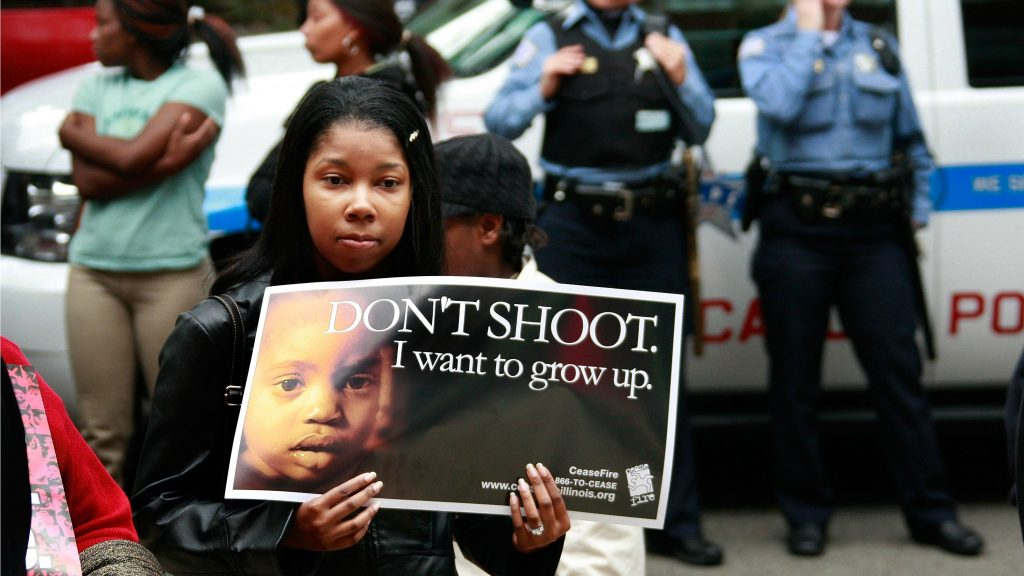 Mother protesting Chicago gun violence