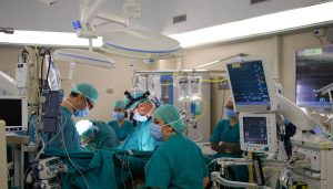 Cardiac surgical procedure at Gemelli Hospital in Rome