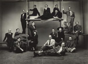 Irving Penn New York Cartoonists 1947 Gelatin silver print 13 1/8 x 17 7/8 in
