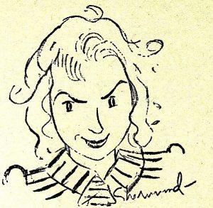 Barbara Shermund, Self-Portrait, Colliers Magazine, 1941