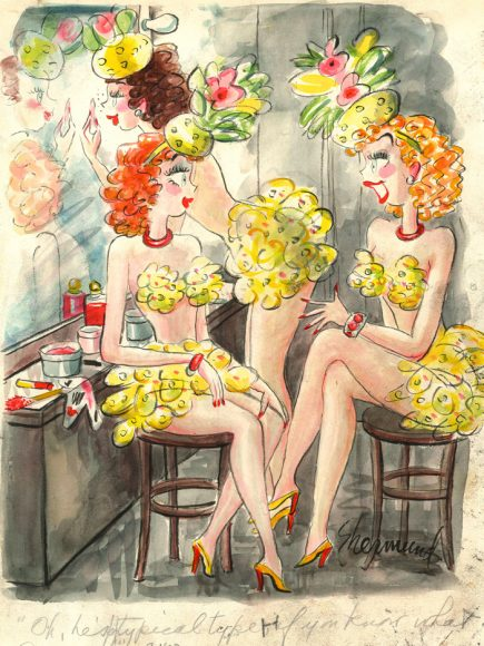 "Barbara Shermund, ""Oh, he's a typical type, if you know what I mean,""  Feb. 10, 1952 issue of Sunday Pictorial Review."